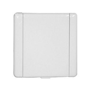 ES uni inlaat metaal wit glans 003050